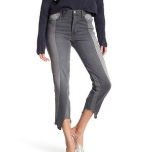 Frame Denim Nouveau Le Mix Gris Raw Hem Jeans 26